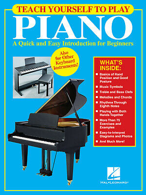 Teach Yourself to Play Piano for Beginner Learn Music Lessons Hal Leonard Book