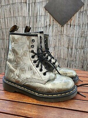 Silver Mirror Dr. Martens Size 5/ EU36 Smooth Leather Boots Lace Up Unisex 1460