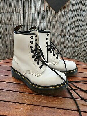 White Dr. Martens Size 5/ EU36 Smooth Leather Boots Lace Up Unisex 1460