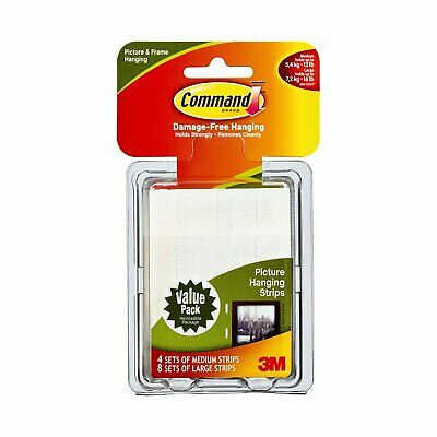 3M Command Picture Hanging Strips – Removable Hanging Strips for Large Picture