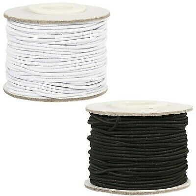 2,5 mm Round Elastic Cord, band, stretch cord - white - DYI masks, jeweller