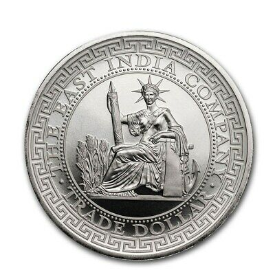 SAINTE HELENE 1 Pound Argent 1 Once Trade Dollar Français 2020 - French Trade