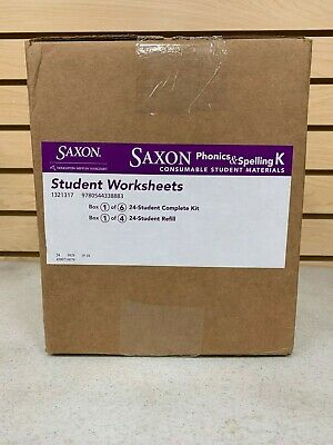 Saxon Phonics & Spelling K 24-Student Worksheets BOX 1 ONLY