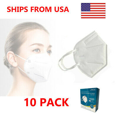 10 Pieces KN95 GB2626-2006 Protective Face Mask - FDA and CDC Approved - 10 Pack