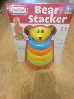Baby Bear Stacker Toy Fun Time 6+ Months NEW