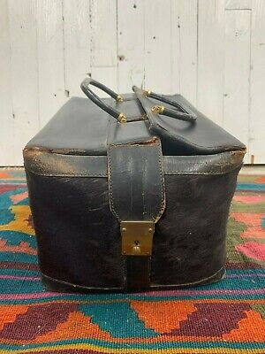 Antique Leather Cow Hair Locking Doctor Bag Made In England