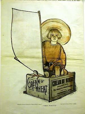 Florence Wyman CREAM OF WHEAT Ad 1920 THE PIRATE Matted