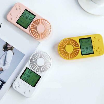 Mini HandHeld Cooling Fan Rechargeable Game Console Pattern Summer Pocket Cooler