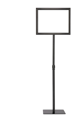 "Floor Sign Stand Holder Black Frame 12"" X 9"""
