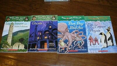 Lot of 4 Magic Tree House Collection Book by Mary Pope Osborne Leprechauns Ghost