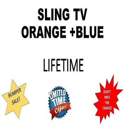 SlingTV Orange + Blue Account 📺 Lifetime Warranty 😲 Instant Delivery