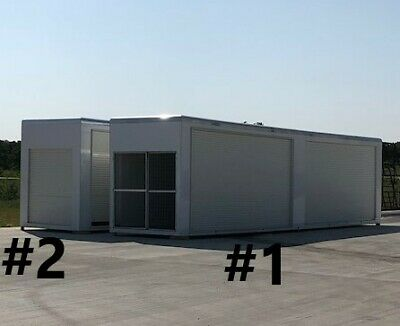 2 Aluminum Portable Storage Container Building w/ 4 roll up doors all around