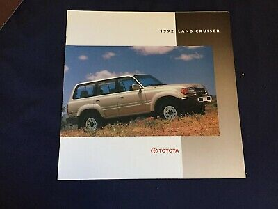 1992 Toyota Land Cruiser Color Brochure Catalog Prospekt