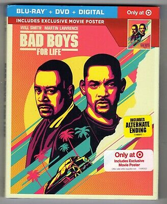 Bad Boys For Life (Blu-ray/DVD/Digital) Brand New Target Exclusive