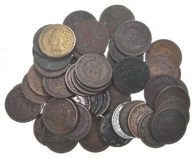 (50) 1890 - 1909 Era Indian Head Cents - Penny Lot Collection US Coin Roll
