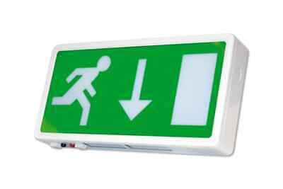 Emergency Exit Sign LED - Avanti Lighting - Exit Box - Arrow Down Or Left/Right