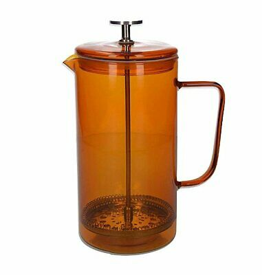 La Cafetiere 8 Cup CAFETIERE French Press COFFEE MAKER Glass AMBER