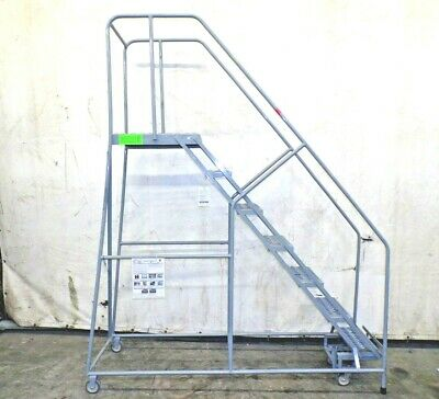 "Cotterman, 7 Step Rolling Ladder, 100"" Height, 450 Lbs. Load Capacity"