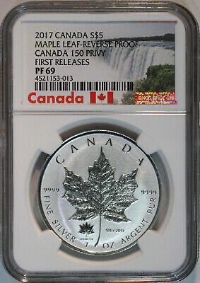 2017 Canada S$5 Maple Leaf Reverse Proof 150 Privy - NGC Proof 69 First Releases