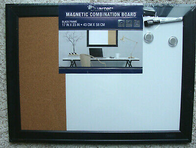 "Dry-Erase Combination Board Magnetic & cork, 17 x 23"" - New!"