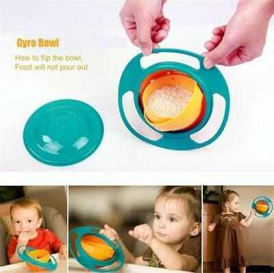 Gyro Bowl Baby Kids Infant Feeding Dishes Universal 360° Rotate Spill-Proof Bowl