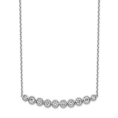 Diamond2Deal Silver-Tone Crystal Cross 16in w//ext Necklace