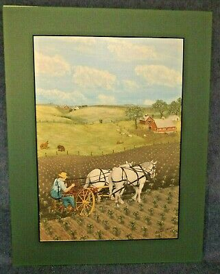 Horse Team Cultivating Print - Le Verne Alvestad - Open Edition - Matted