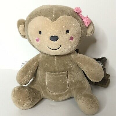 Carters Child of Mine Monkey Toddler Harness Safety Plush Backpack Missing Leash