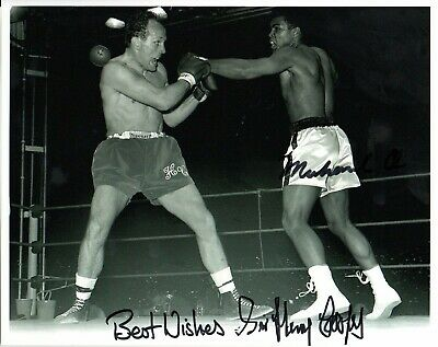 Sir Henry Cooper Signed A4 Photo Display Boxing Champion Memorabilia Autograph