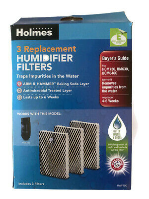 HOLMES 3 REPLACEMENT Humidifier Filters E HWF100 (3 filters