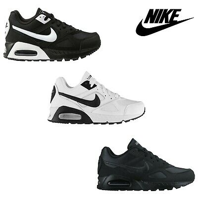 NIKE AIR MAX IVO Trainers Shoes Black White Gym Casual