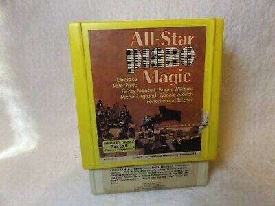 Vintage 8 Track Tapes All Star Piano Magic 3 Tape Set Readers Digest Set