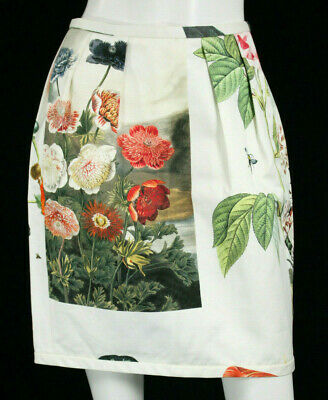 STELLA McCARTNEY Multi-Color Floral Cotton High-Waisted Skirt 40
