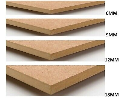 MDF CUT TO SIZE 6mm, 9mm, 12mm, 18mm THICKNESSES AVAILABLE