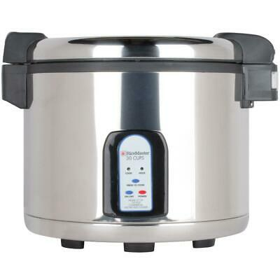 Town 60 Cup (30 Cup Raw) Stainless Steel Electronic Rice Cooker / Warmer - 120V