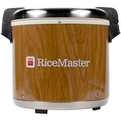 Town 92 Cup Commercial Rice Warmer with Woodgrain Finish - 120V