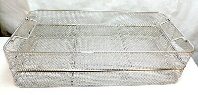 Lot 2 Stainless Steel Sterilization Tray Basket Arthroscopy Endoscopy Instrument