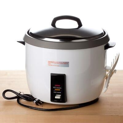 Thunder Group 60 Cup (30 Cup Raw) Non-Stick Commercial Rice Cooker / Warmer 120V