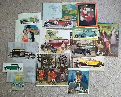 Lot of 30 Vintage Magazine Automobile Car Ads/Pictures Buick, Chevorolet & more