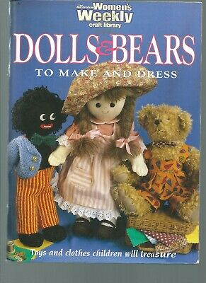 Dolls & Bears to make and dress Women's Weekly Book includ knit jumpers barbie