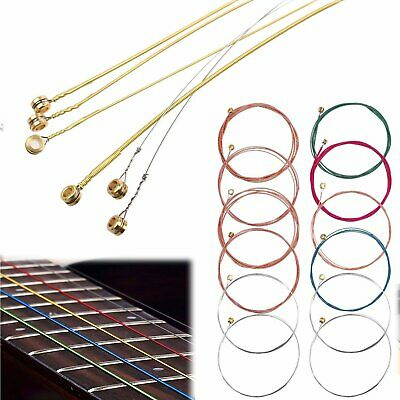 Sets of 6 Guitar Strings Replacement Steel String for Classical Acoustic Guitar