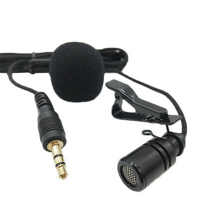 Clip-on Lapel Mini Lavalier Mic Microphone 3.5mm for Mobile Phone/ PC /Recording