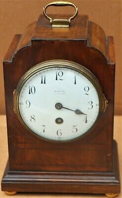 TIDY LOOKING OLD WOODEN CASED JAPY FRERES BRACKET TYPE CLOCK for simple repair