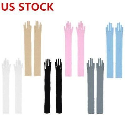 Women's Seamless Gloves Cuff Sleeves Elastic Tights Nylon Wedding Evening Glove