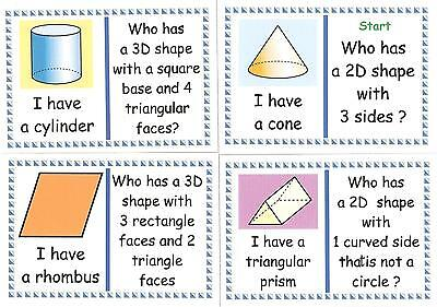 2D & 3D SHAPES LOOP CARDS - Y2 Maths Resource