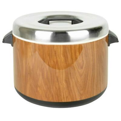 Thunder Group 60 Cup Wood Grain Insulated Sushi Rice Pot
