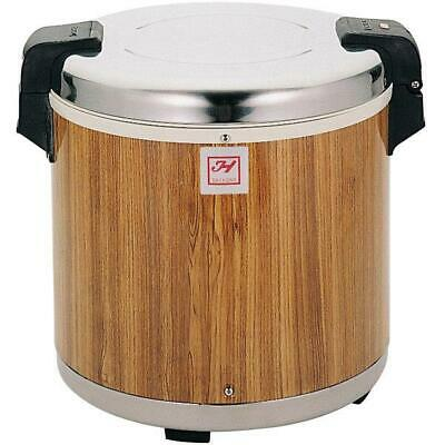 Thunder Group 50 Cup Rice Warmer with Wood Grain Finish - 120V