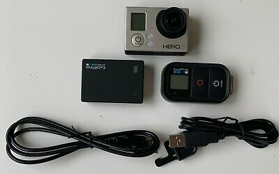Gopro Hero 3+ Silver Edition with Wifi Remote Control and Battery Bacpac