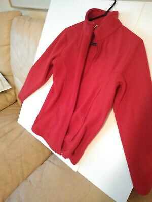 Bass Pro Shops Kids Boys Girls Large Full Zip Up Long Sleeve Fleece Jacket Red