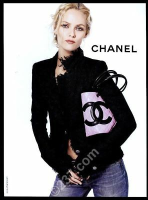 2004 Chanel pink purse handbag woman photo vintage print ad